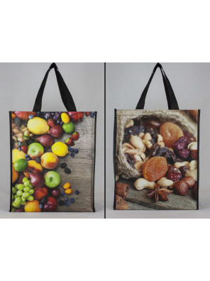 Reusable non-woven bag with lamination (14 x 16 + 6)_Emballage EDR