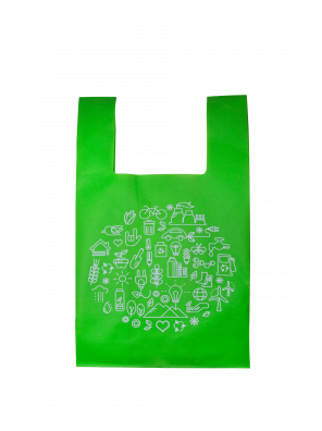 Reusable non-woven bag (13 x 23 + 8)