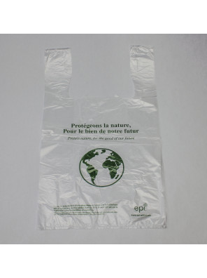 Biodegradable T-shirt bag (9 x 17,5 + 5,5) T-shirt bags / Die cut