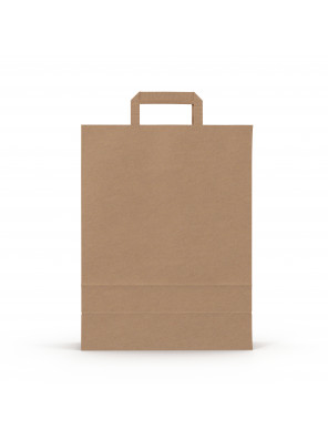 Kraft Paper Grocery Bag with Handle Custom Print