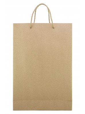 Kraft Paper Shopping Bag with Handle_Emballage EDR