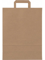 """Kraft paper bags with handles """"grocery / restaurant"""" style"""