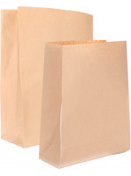 """Kraft paper bags with no handles """"grocery / catering"""" style"""