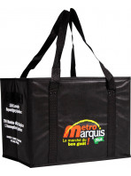 Woven polypropylene isothermal bags with matte or gloss lamination